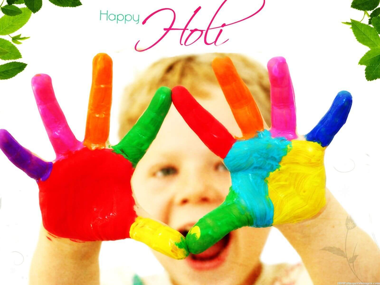 happy holi colors 3d hd wallpaper