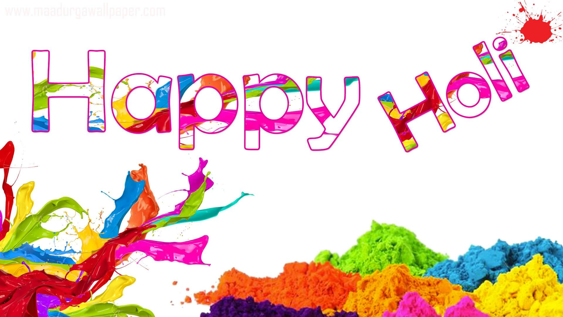 happy holi colors festival greetings wishes 3d hd wallpaper