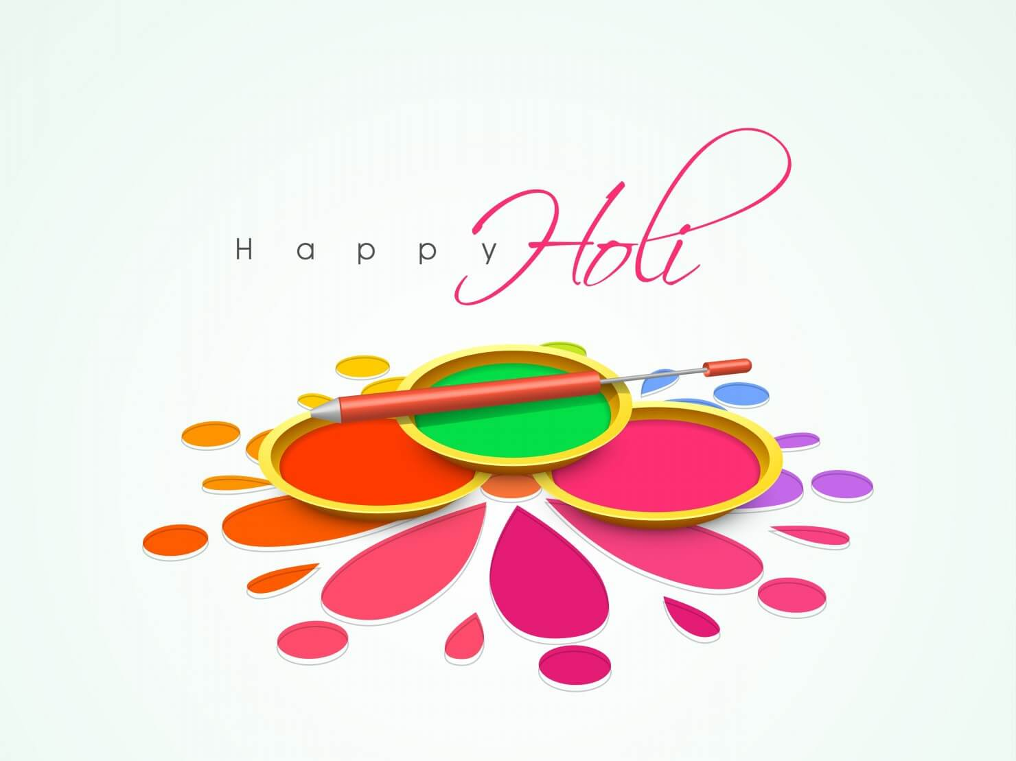 happy holi colors festival greetings wishes hd 3d wallpaper