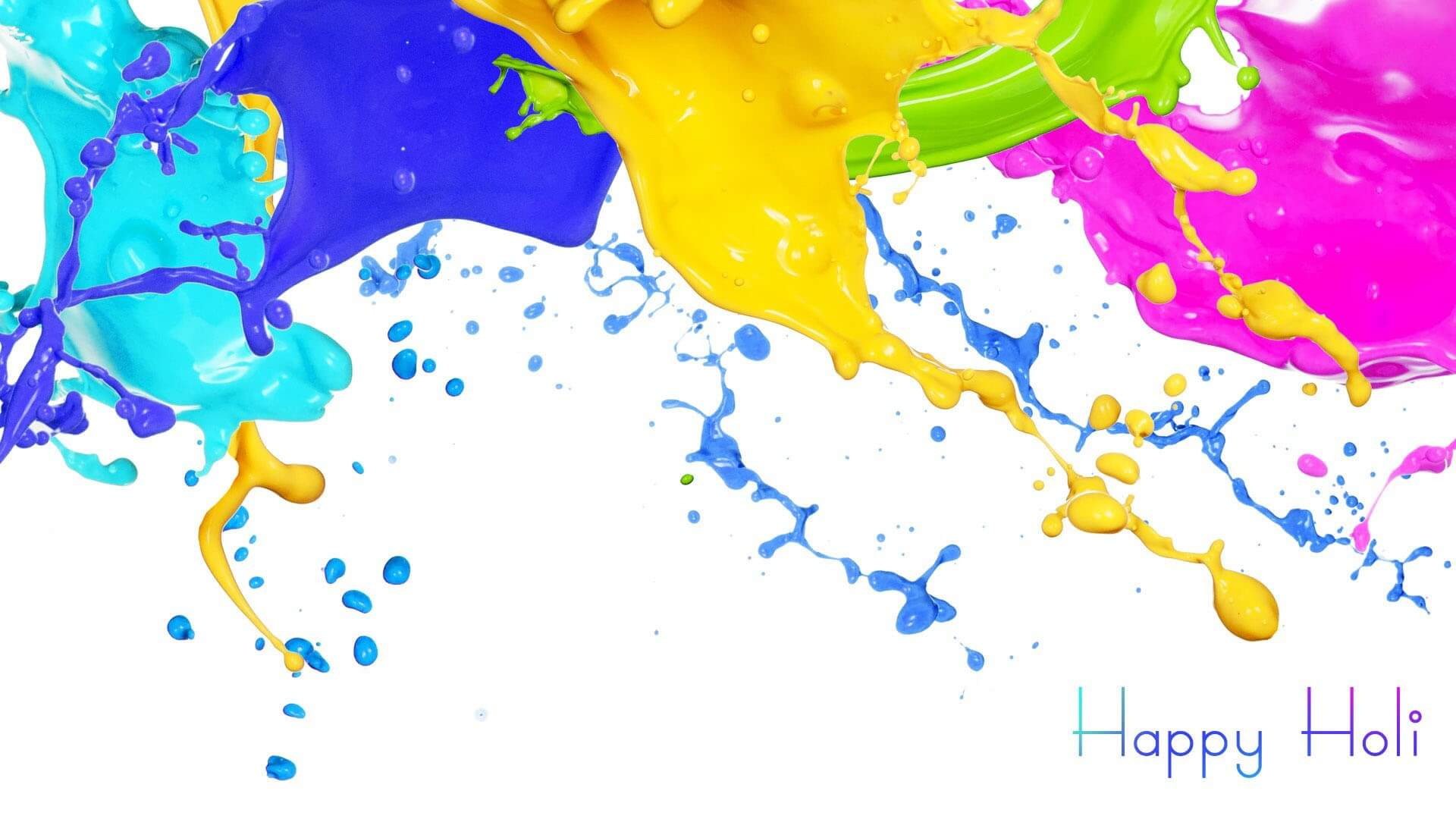 happy holi colors festival wishes hd 3d wallpaper