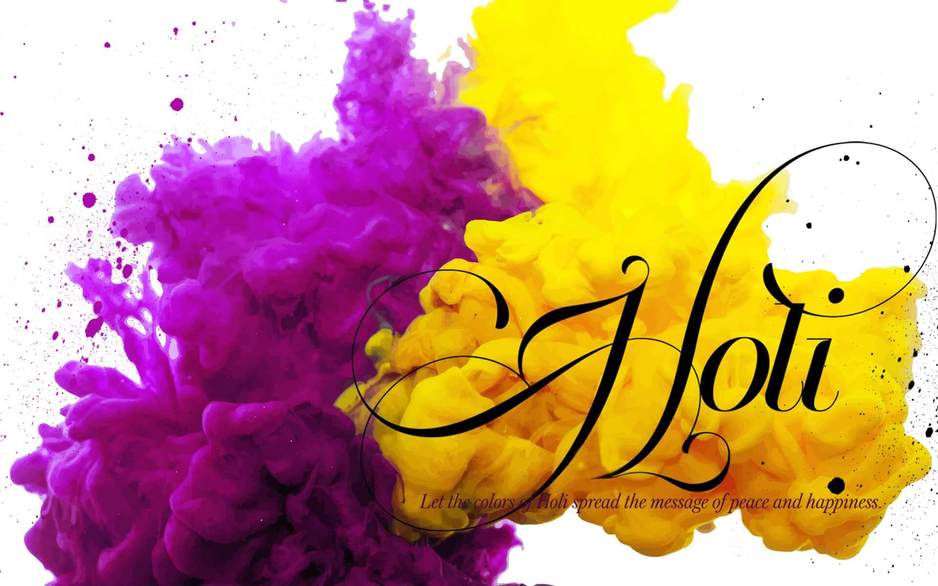 happy holi colors greetings wishes 3d hd wallpaper