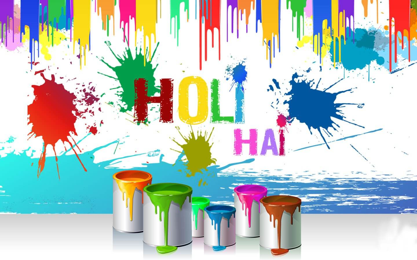 happy holi colors greetings wishes hd 3d wallpaper