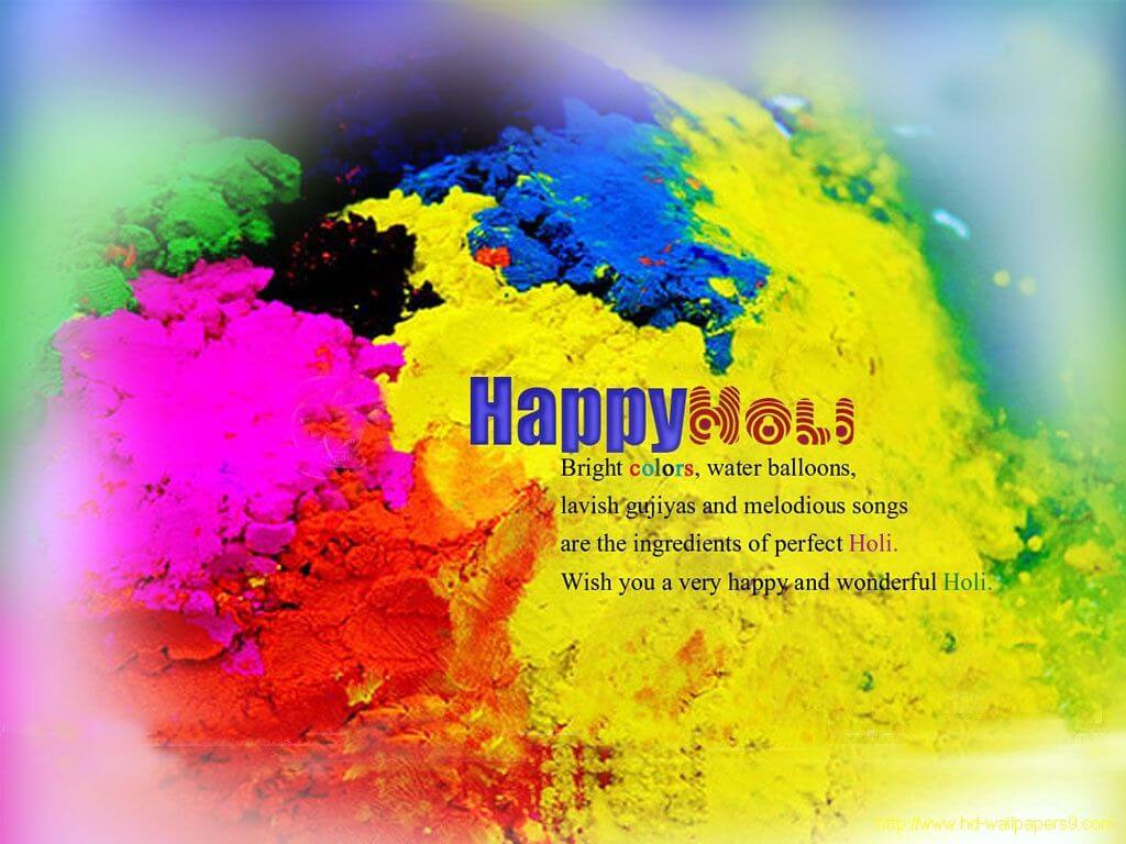 happy holi festival colors greetings wishes hd 3d wallpaper