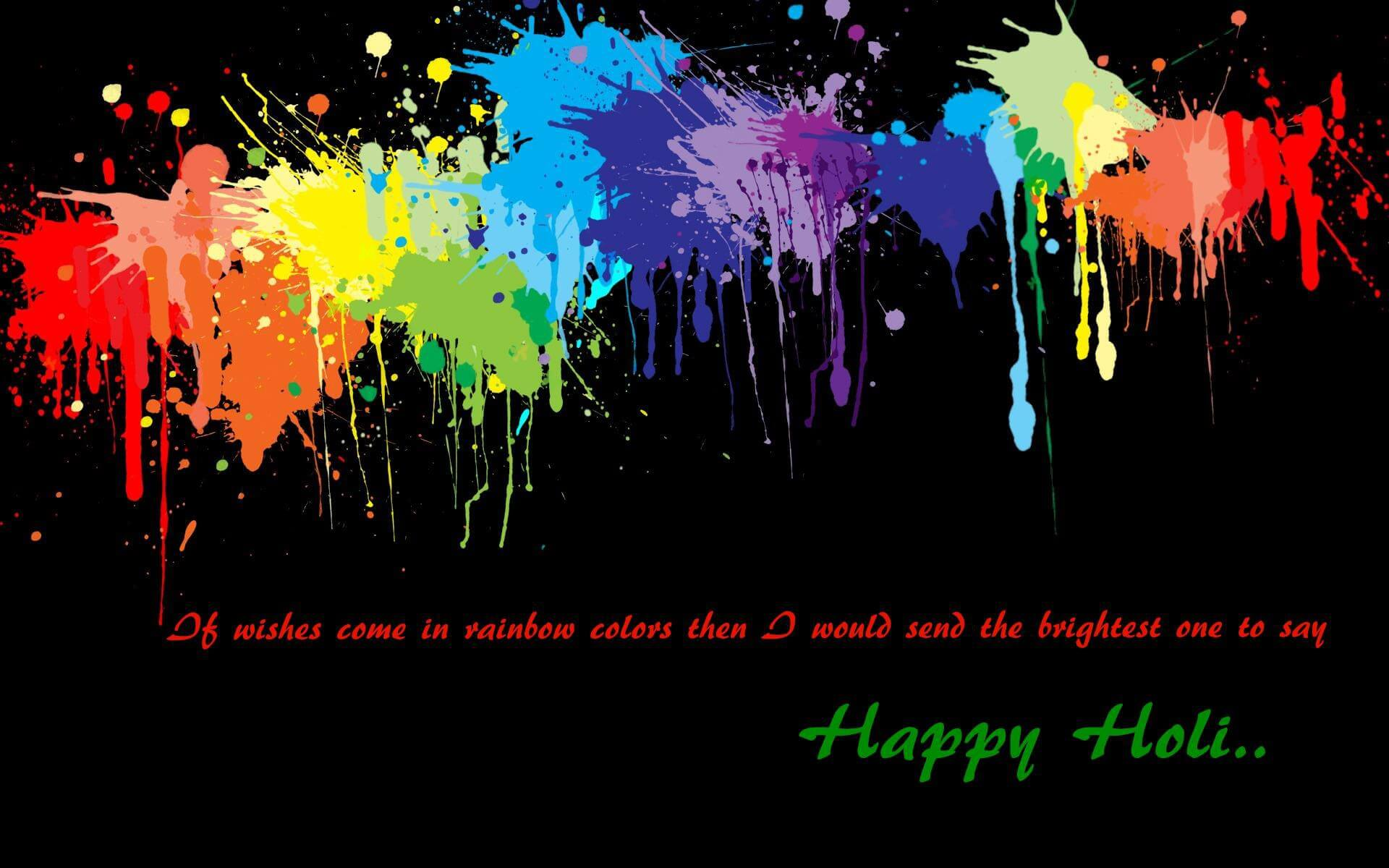 happy holi festival greetings wishes hd 3d rainbow wallpaper