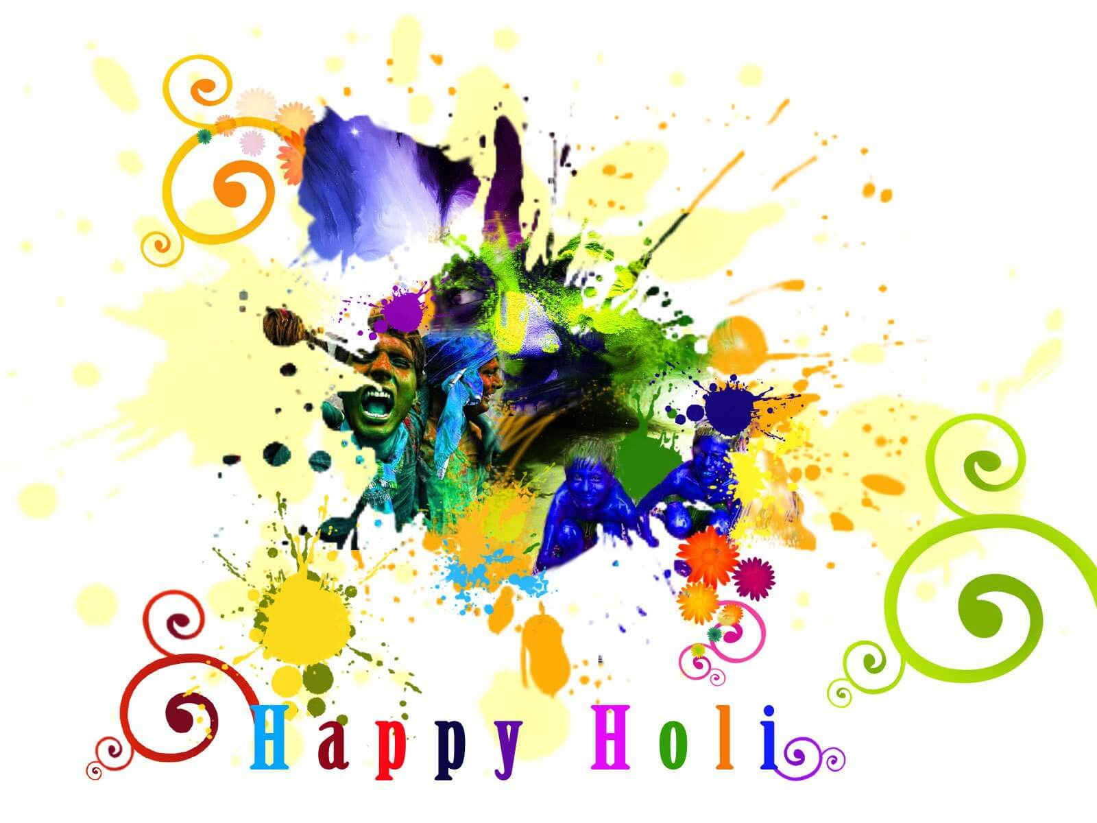 happy holi free hd wallpaper