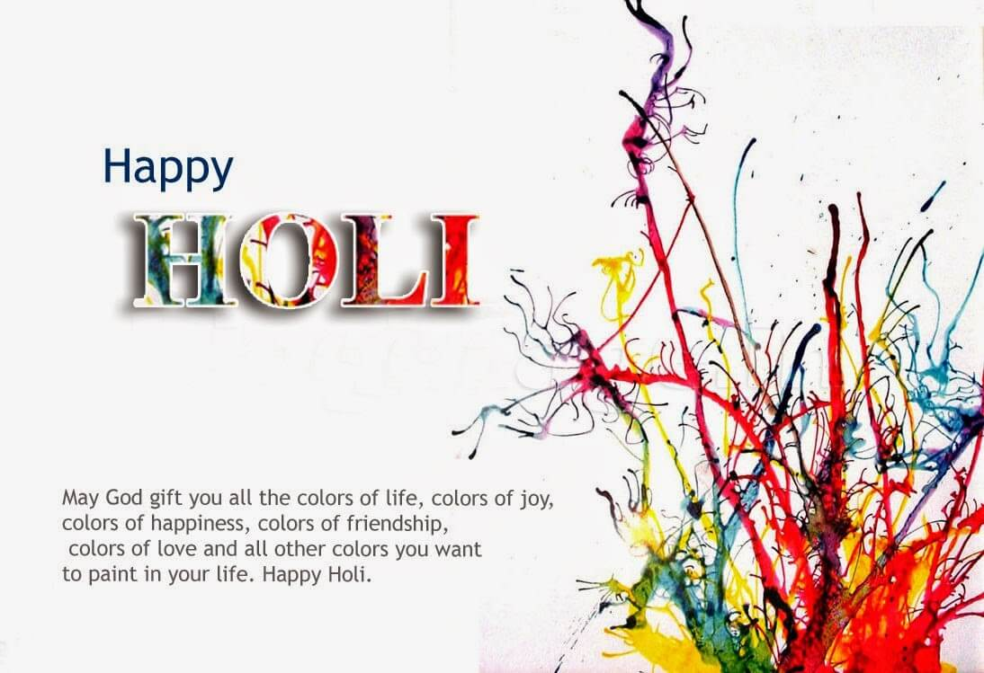 happy holi greetings wishes 3d hd wallpaper free