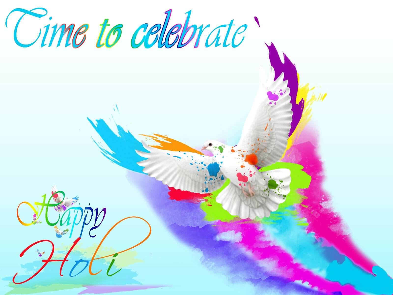 happy holi greetings wishes 3d hd wallpaper