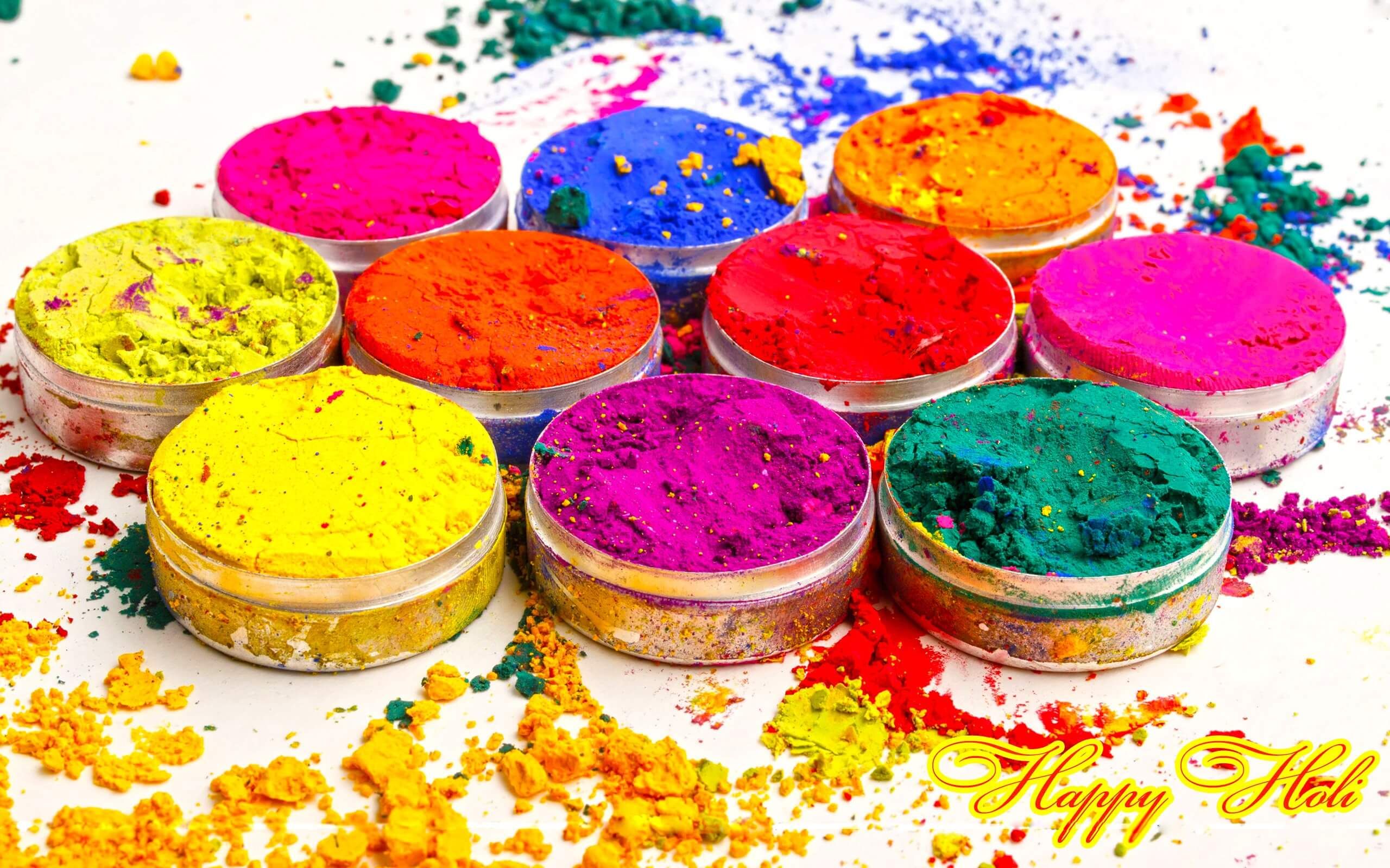 happy holi greetings wishes colors 3d hd wallpaper
