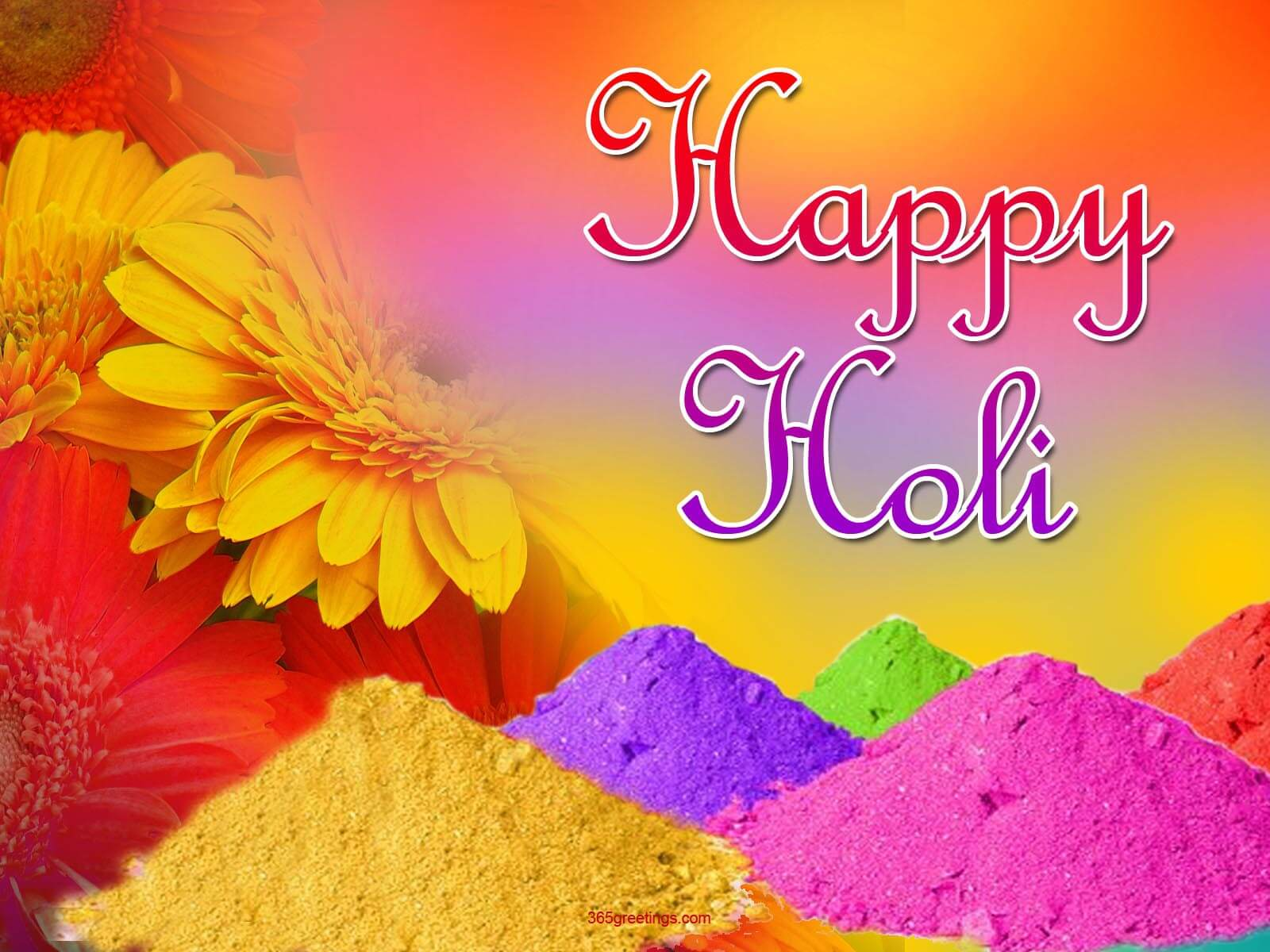 happy holi greetings wishes hd 3d wallpaper