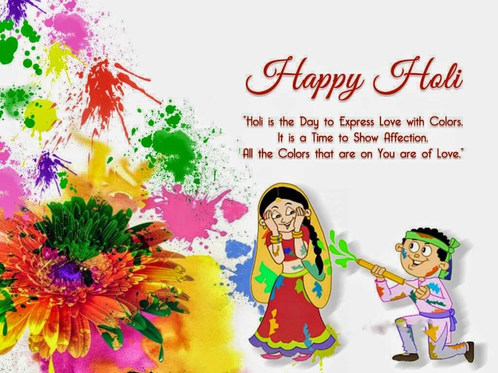 happy holi greetings wishes hd wallpaper
