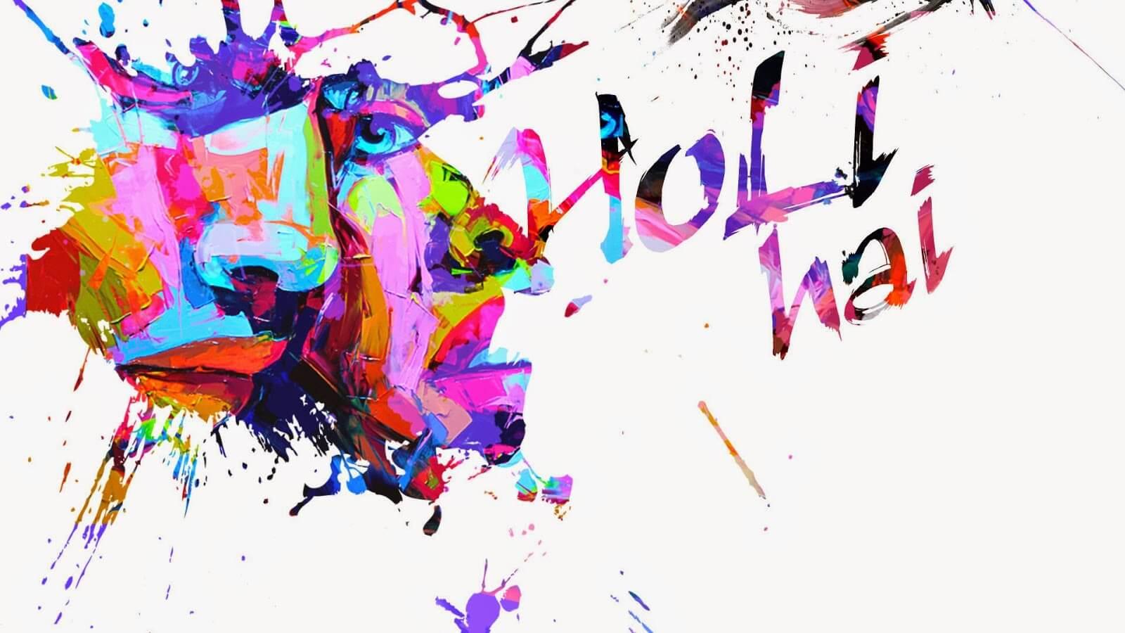 happy holi hai 3d hd wallpaper background