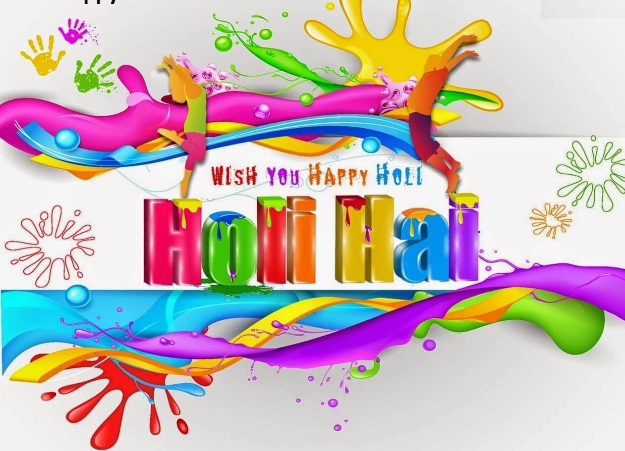 happy holi hai colors greetings wishes 3d hd wallpaper