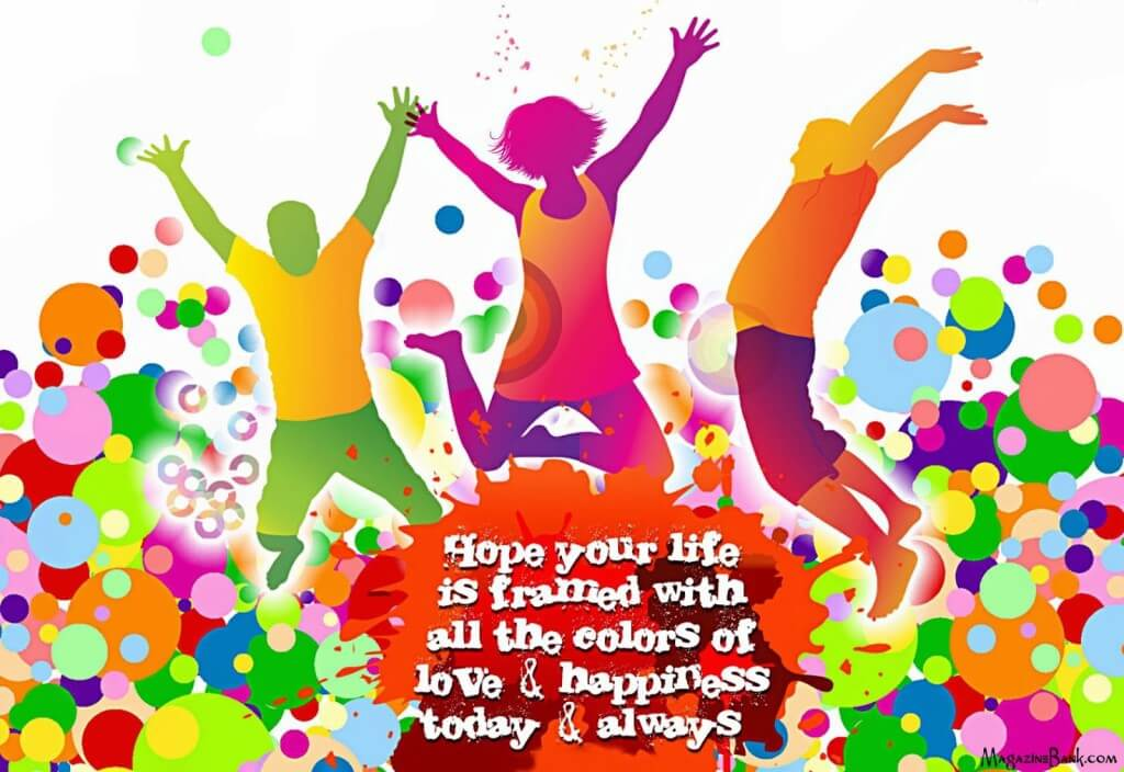 Happy holi wishes greetings 3d hd wallpaper m4hsunfo