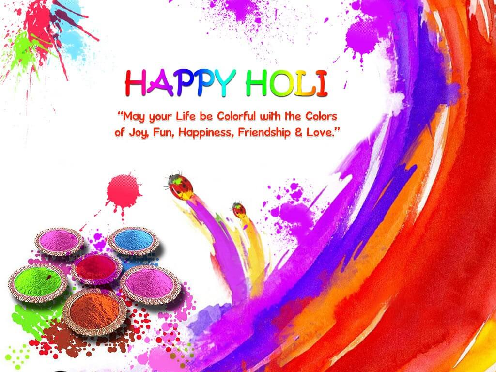 happy holi wishes hd 3d wallpaper background