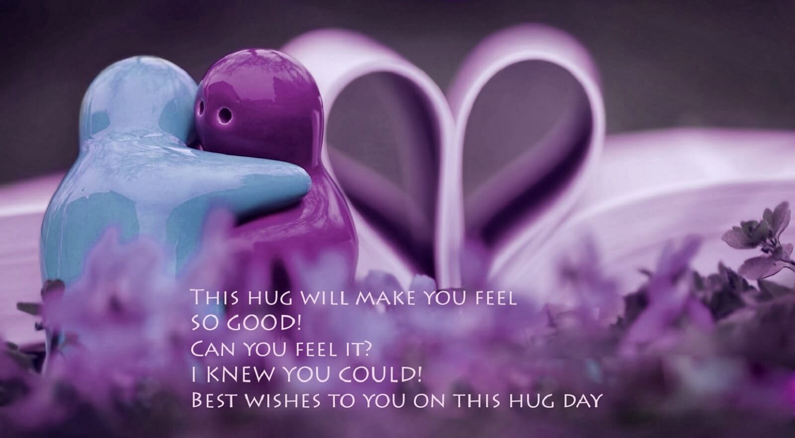 happy hug day make you feel animated quotes graphic hd wallpaper