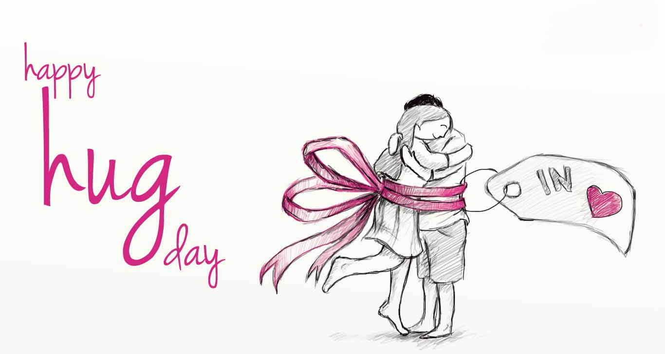 happy hug day wishes love romantic couples pencil art graphic hd wallpaper