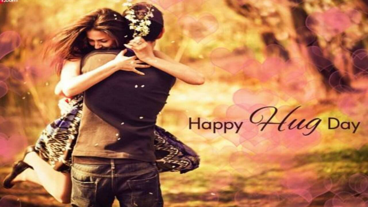 happy hug day wishes love romantic couples valentine graphic picture hd wallpaper
