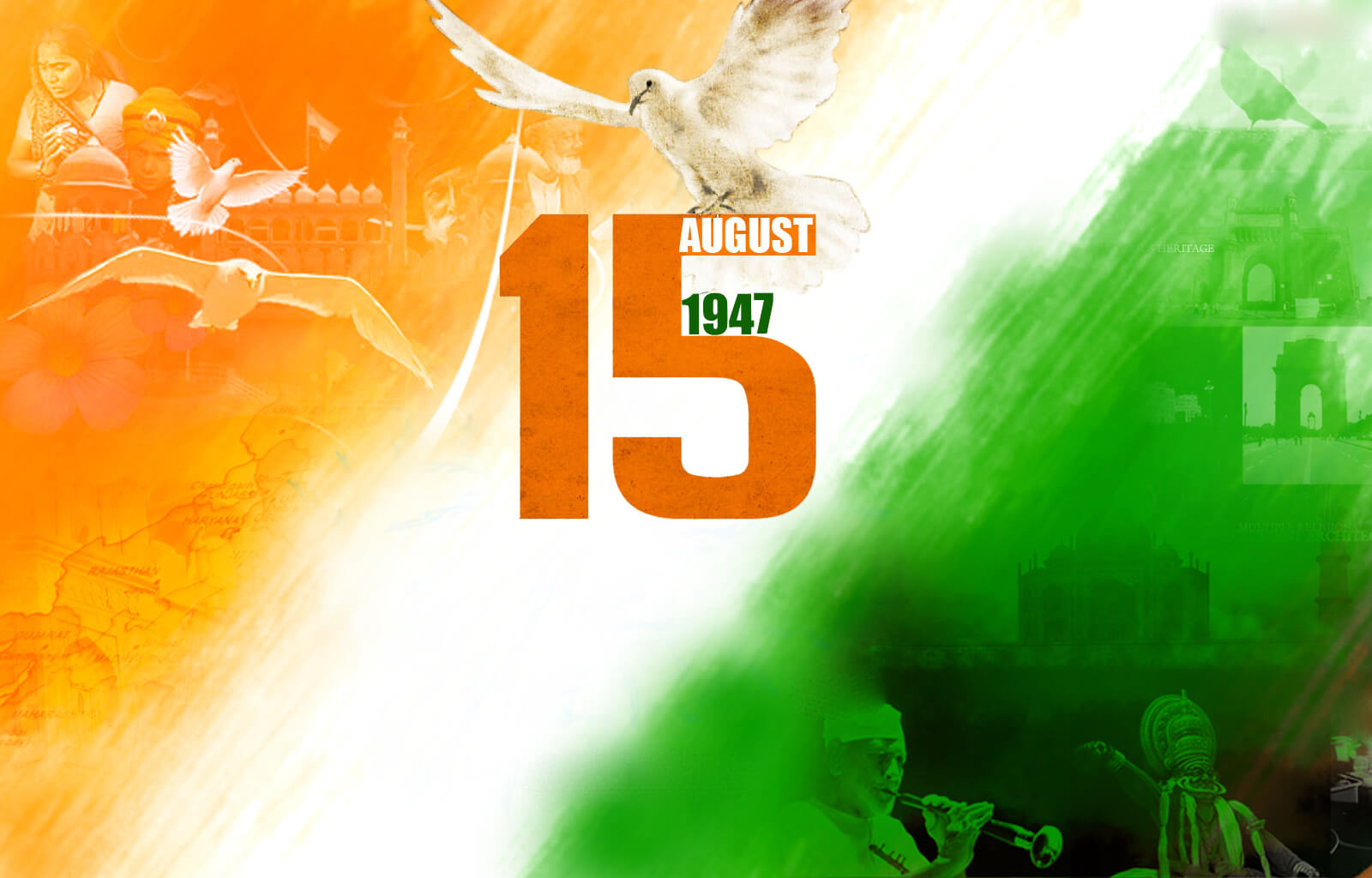 happy india independence day 15th august 1947 wallpaper