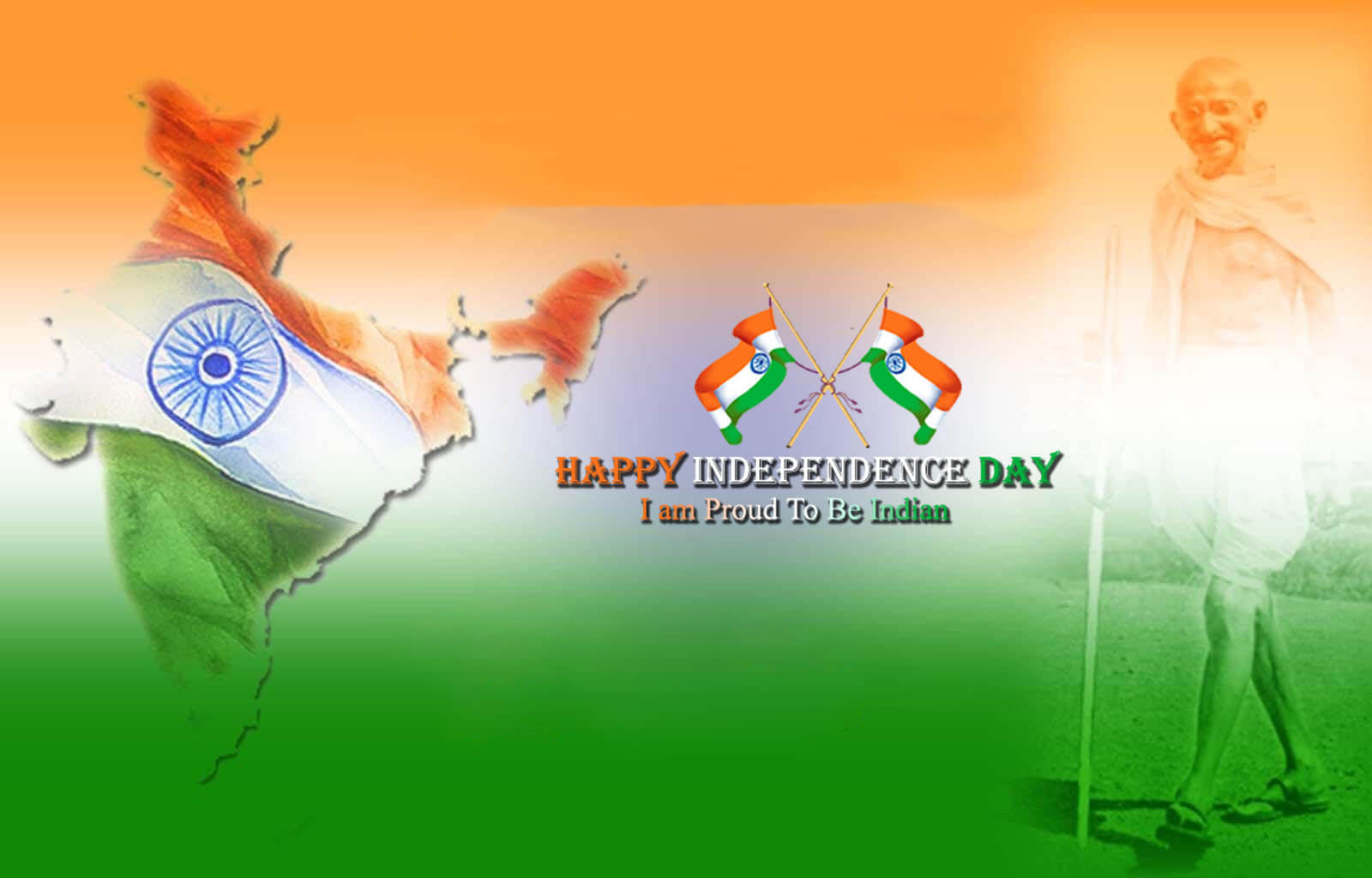 happy india independence day flag august 15th mahatma gandhi
