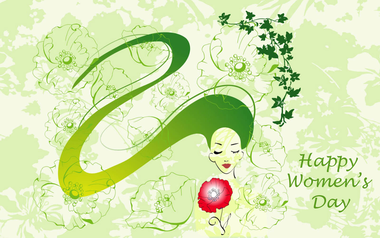 happy international womens day greetings card hd wallpaper