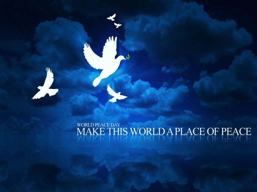 happy international world peace day cute hd wallpaper