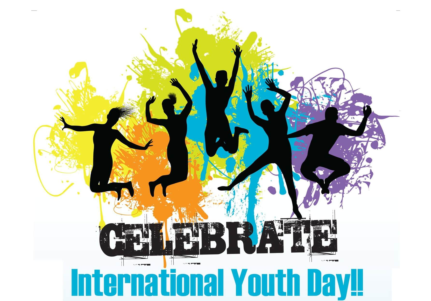 happy international youth day celebration dance wallpaper