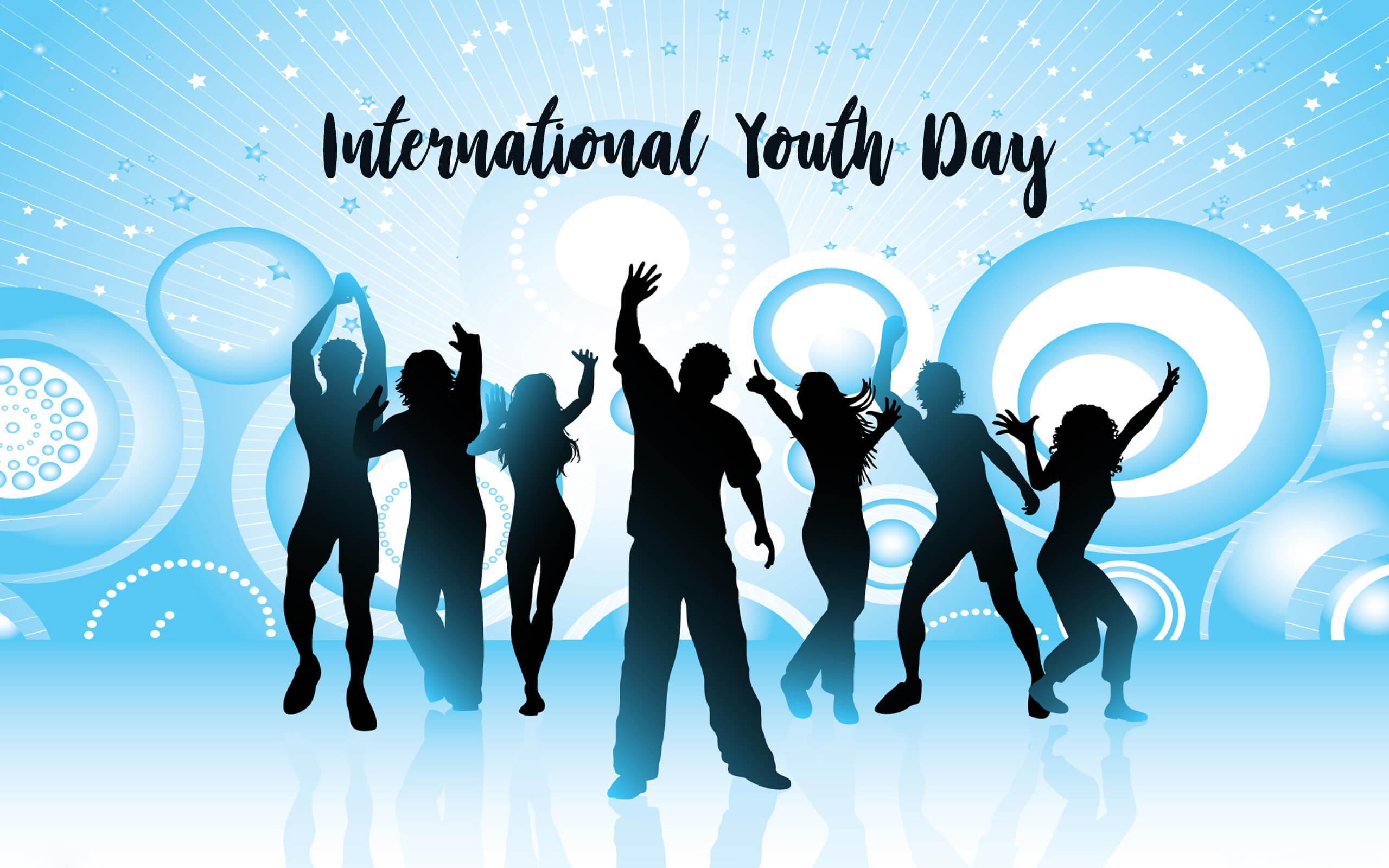 happy international youth day greetings wishes hd wallpaper