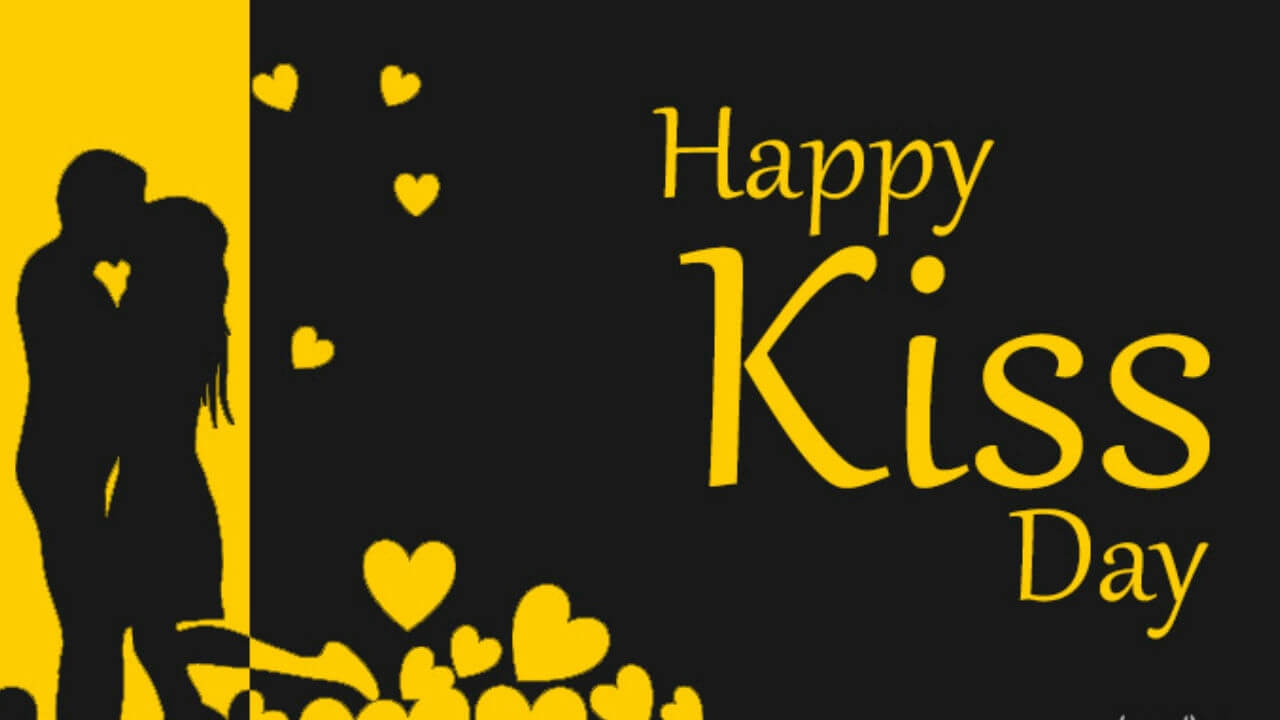 happy kiss day wishes couples shadow love valentine february 12th hd wallpaper