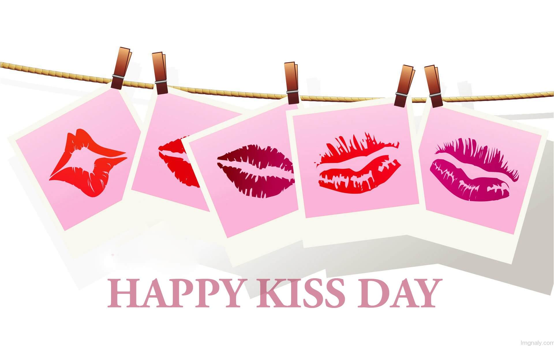 happy kiss day wishes hanging lips love valentine graphic image hd wallpaper