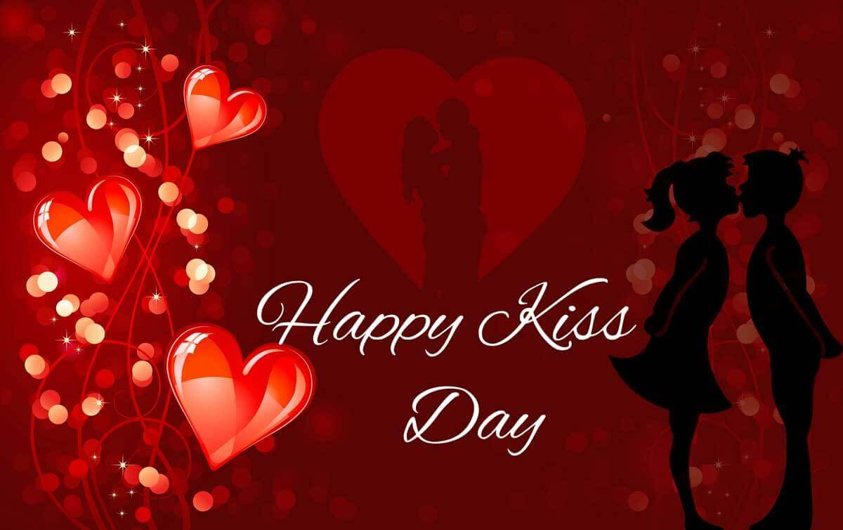 happy kiss day wishes love valentine february 12th image hd wallpaper
