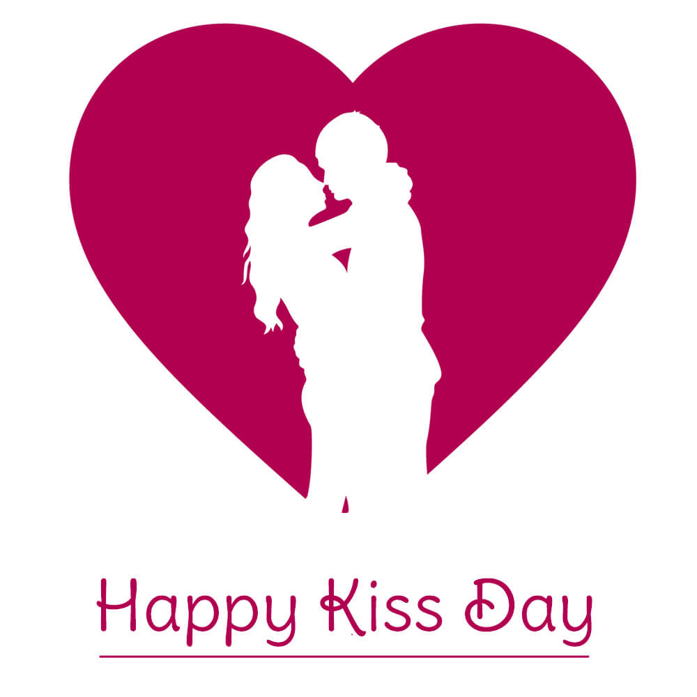 happy kiss day wishes loving couple heart image facebook hd wallpaper