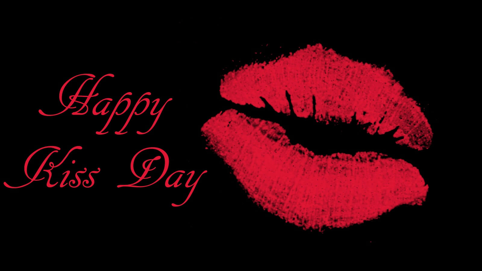 happy kiss day wishes red lips love valentine facebook image hd wallpaper