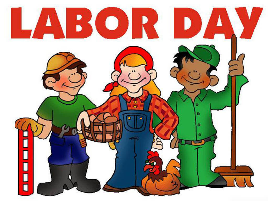 happy labor day cartoon pc wallpaper