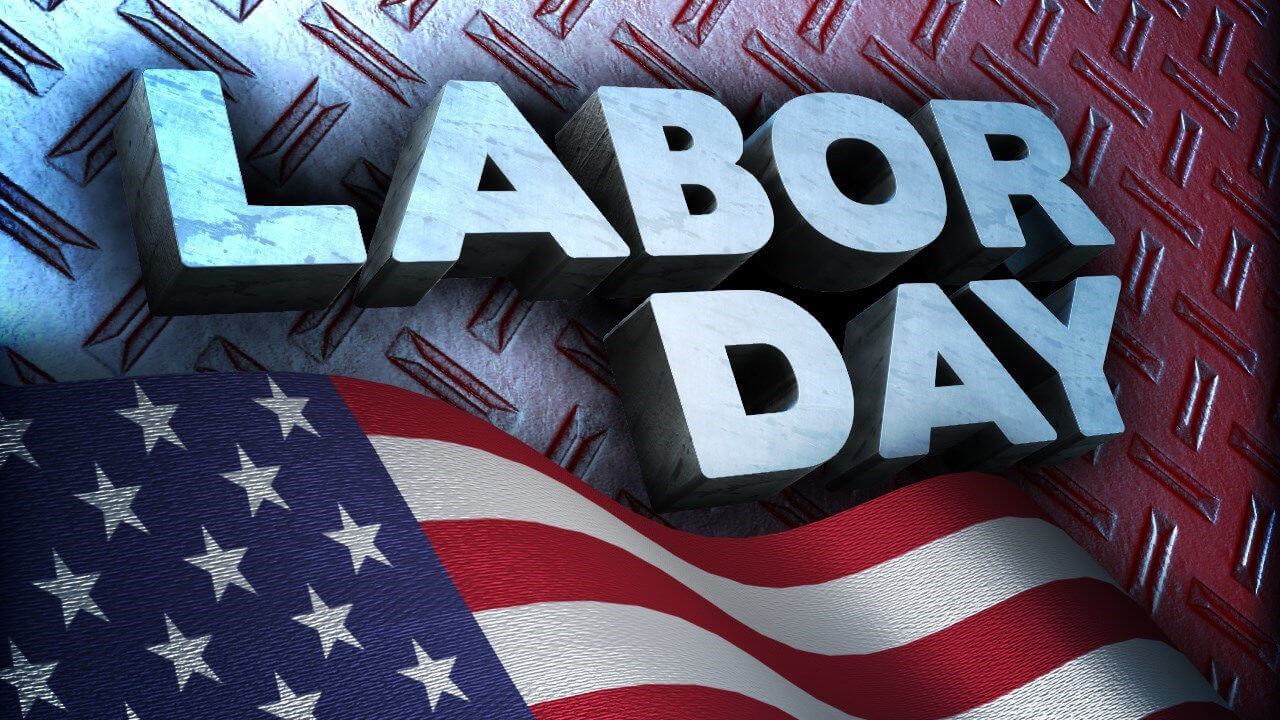happy labor day text on usa flag hd wallpaper