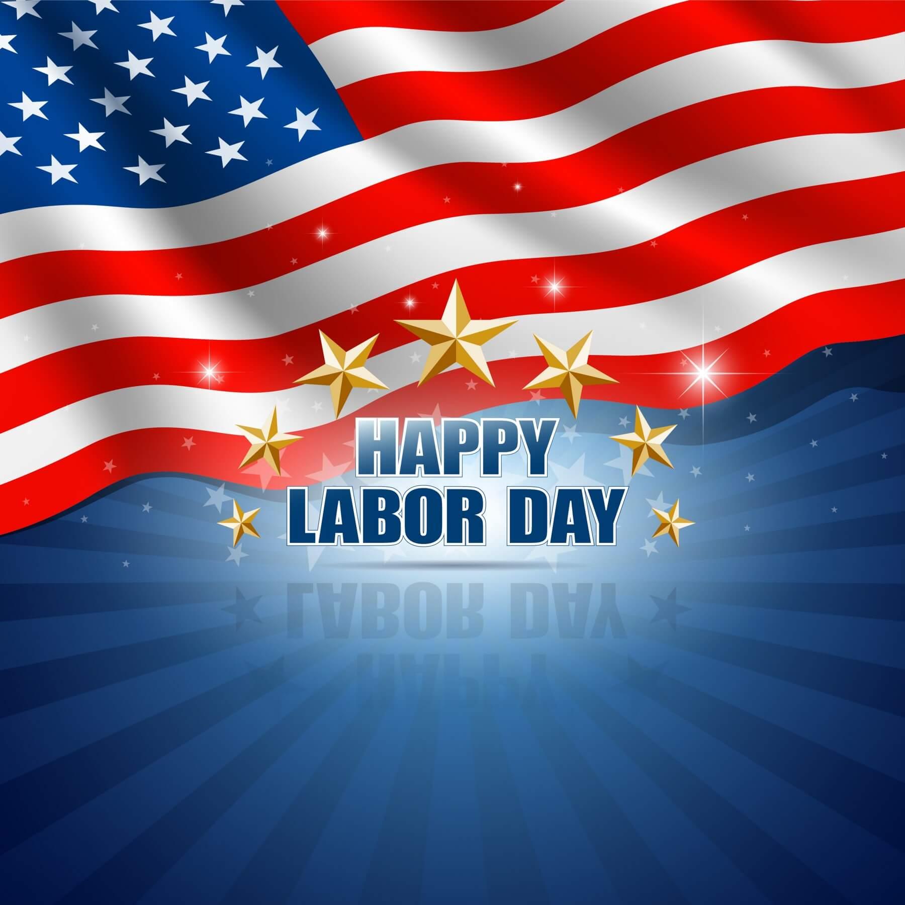 happy labor day usa america flag hd 3d wallpaper