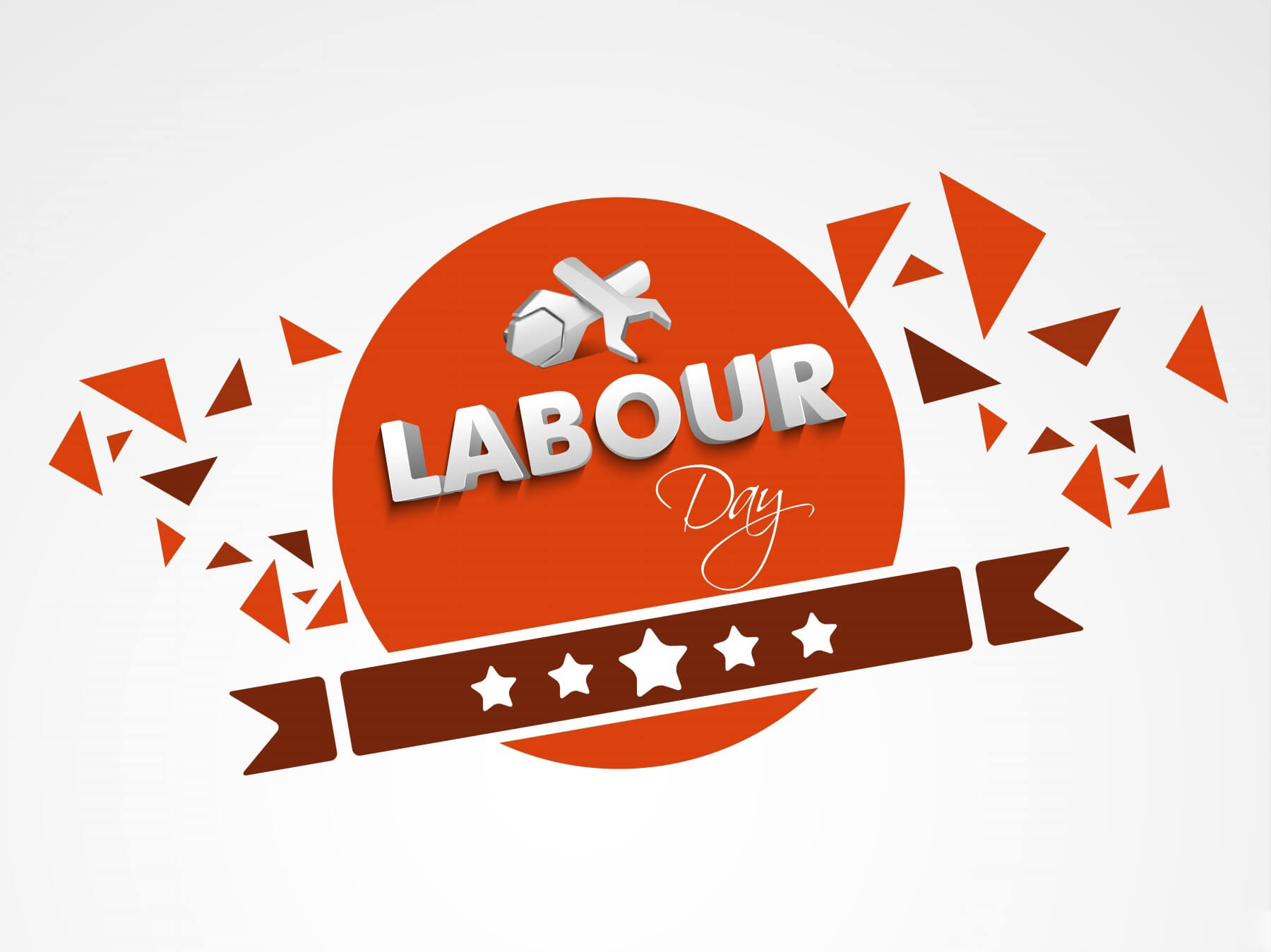 happy labour labor day sticker label design image