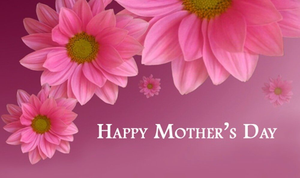 happy mothers day pink flower hd wallpaper