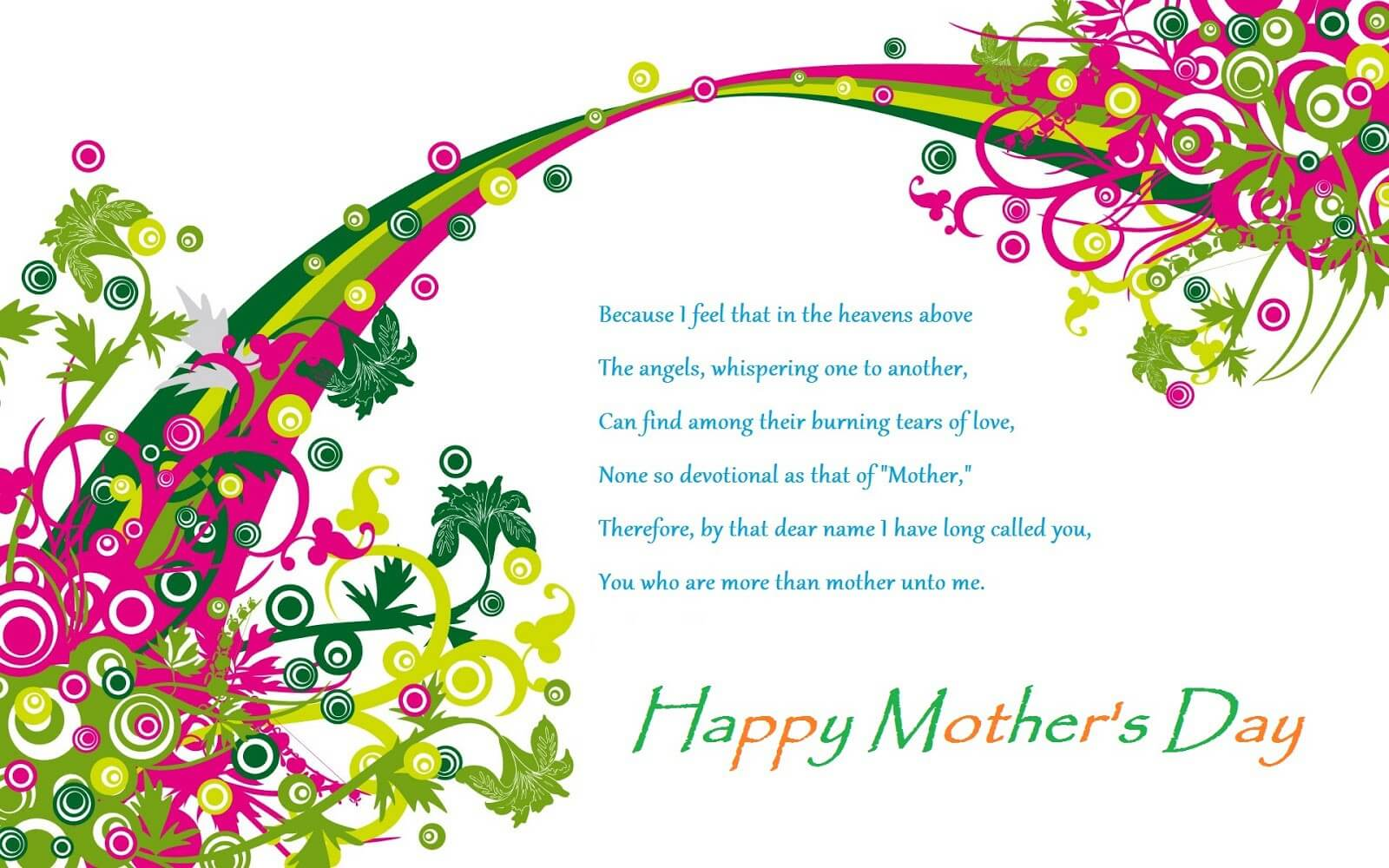 happy mothers day poet wishes greetings hd wallpaper