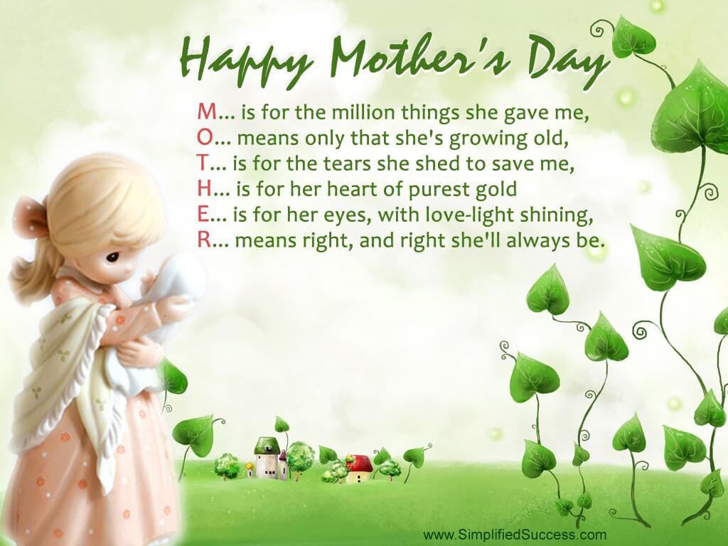 happy mothers day poetry wallpaper hd desktop