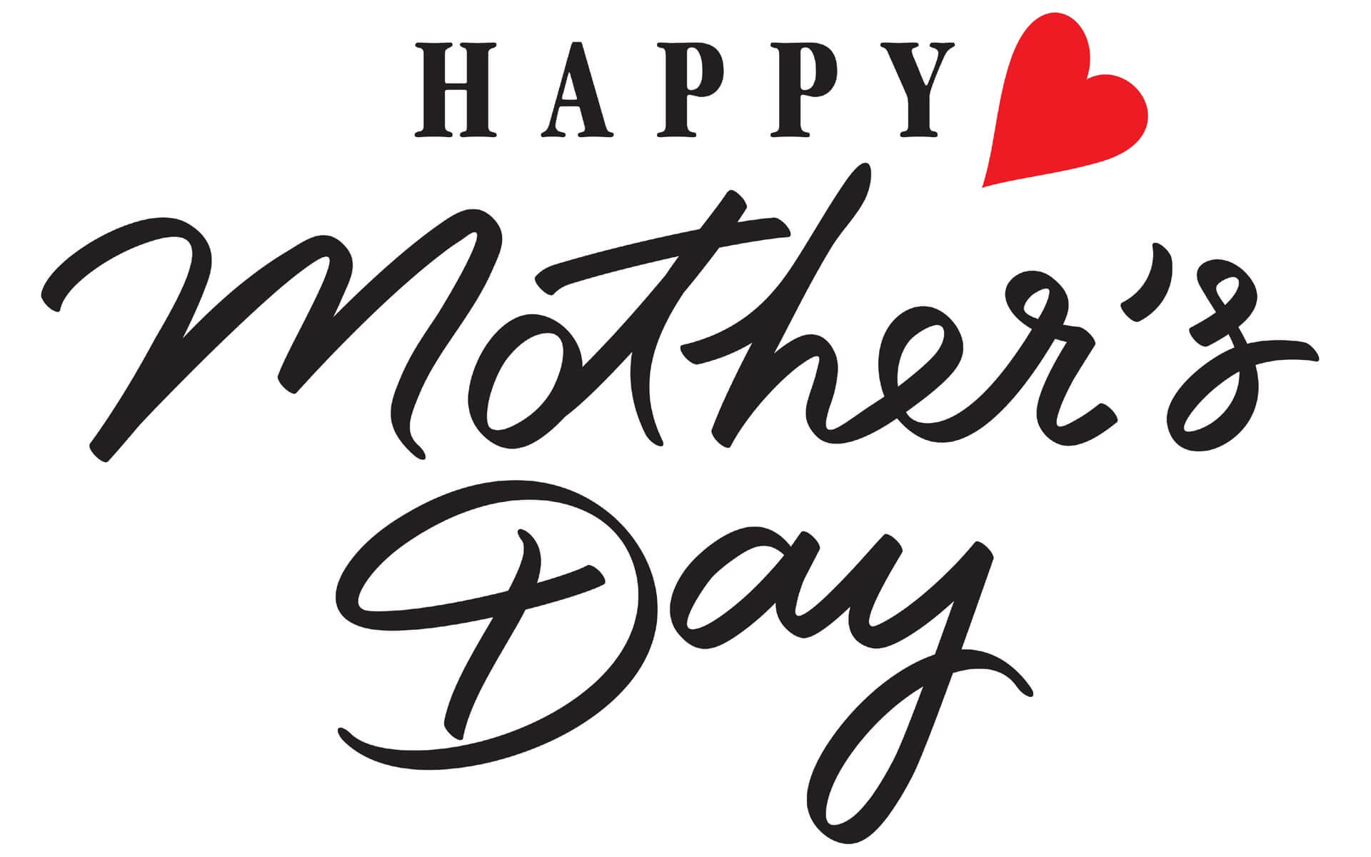 happy mothers day red hearts wishes big hd wallpaper