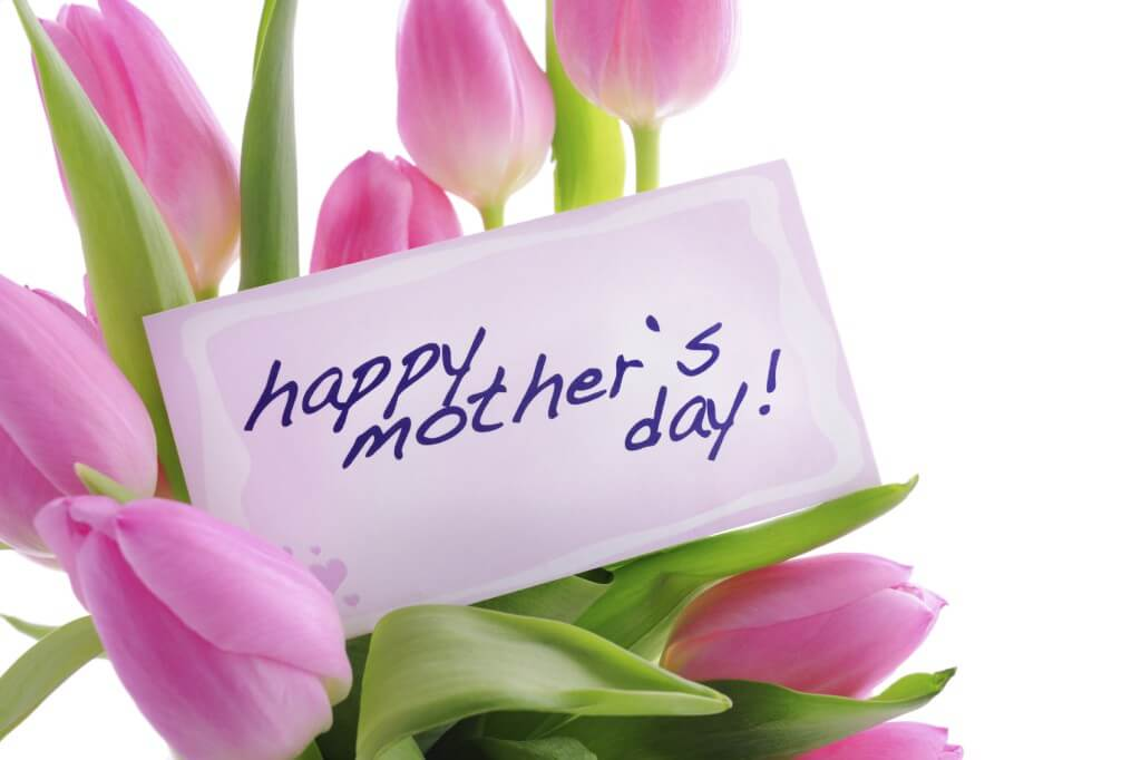 happy mothers day wishes pink tulips image photo hd wallpaper