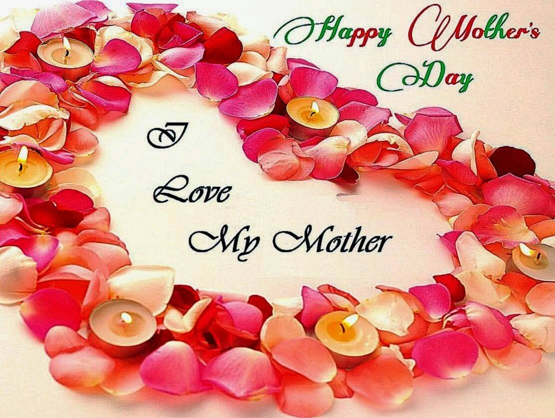 happy mothers day wishes rose petals hd wallpaper