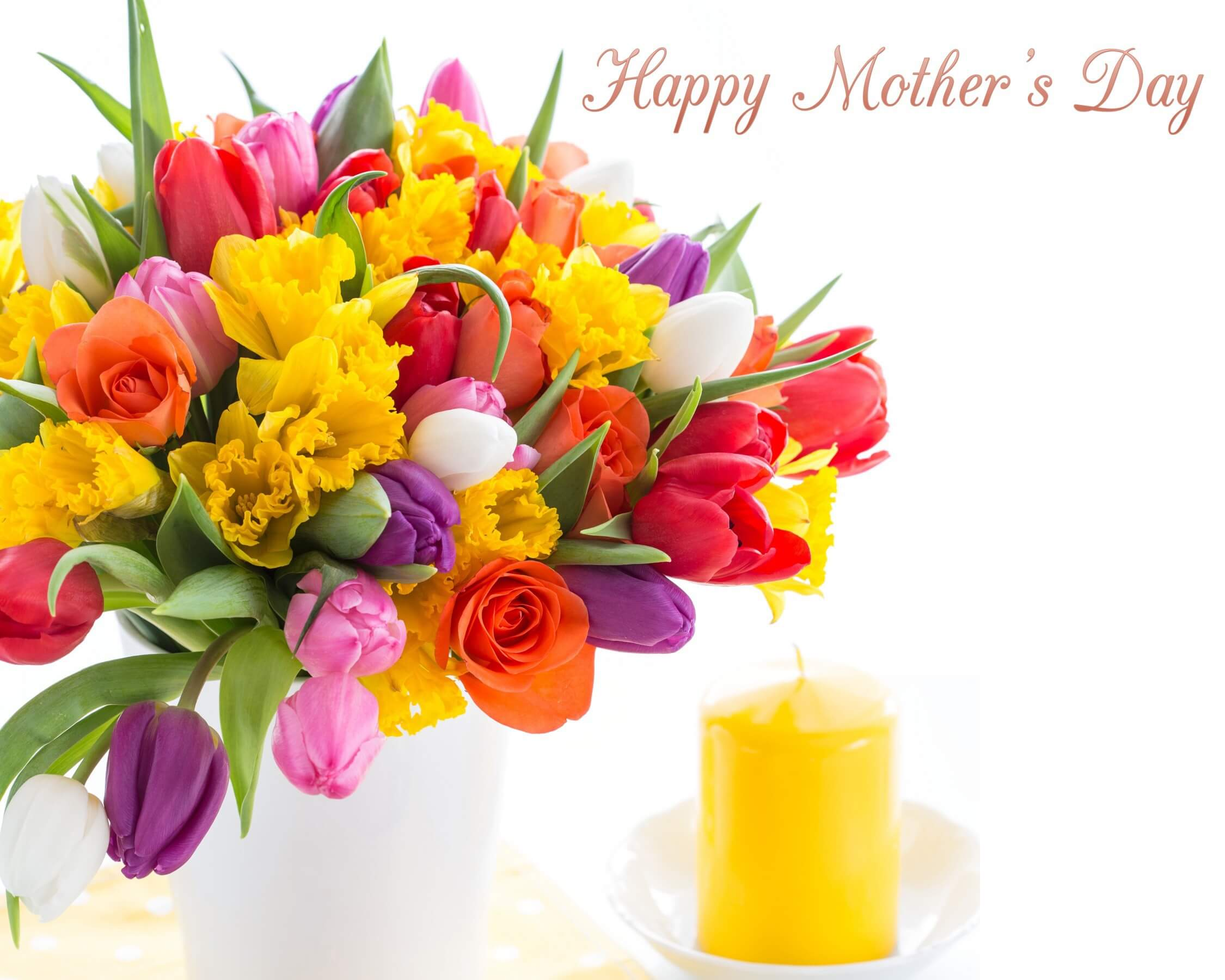 happy mothers day wishes tulips flowers hd wallpaper