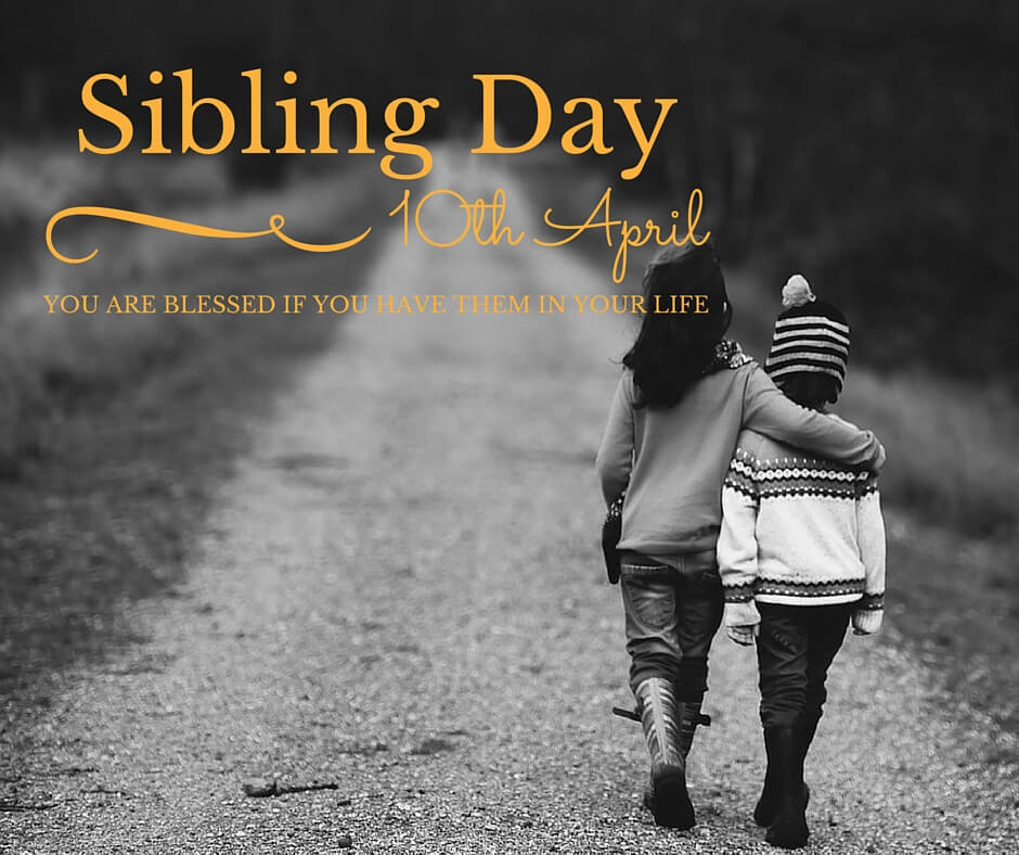 happy national siblings day two sisters walking hd wallpaper