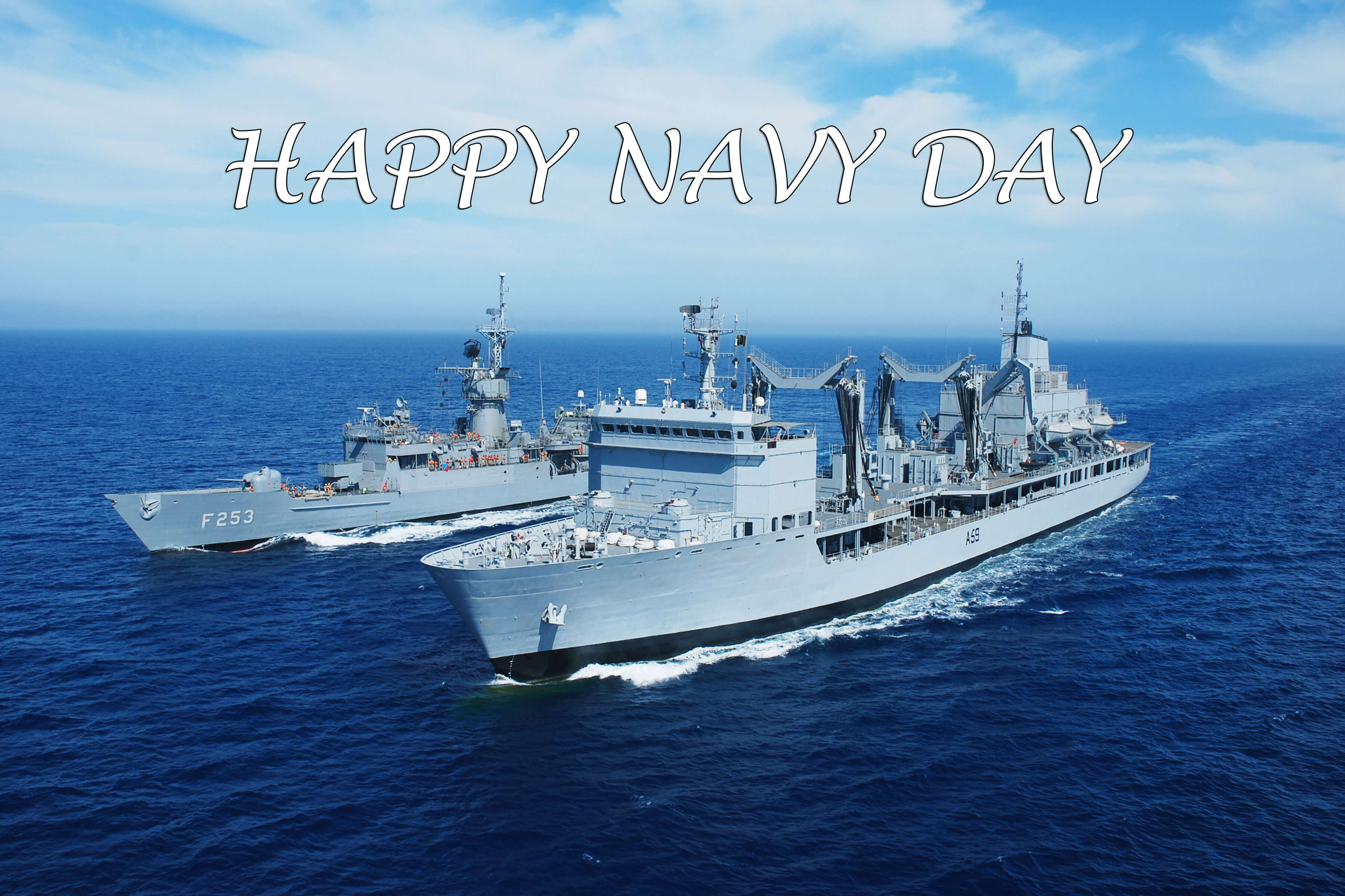 happy navy day cruise ships greetings wishes hd wallpaper