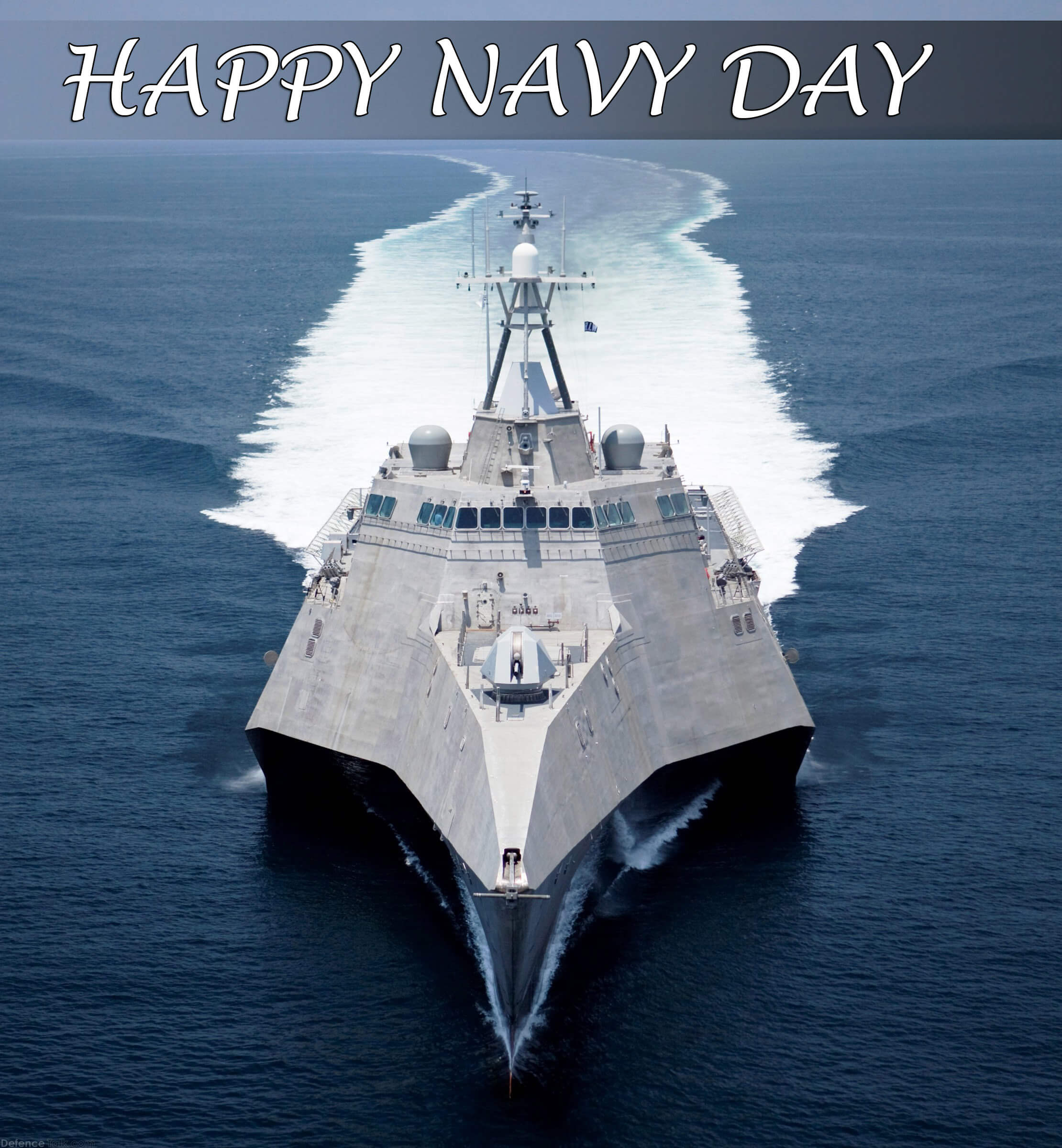 happy navy day ship wishes greetings hd pc wallpaper