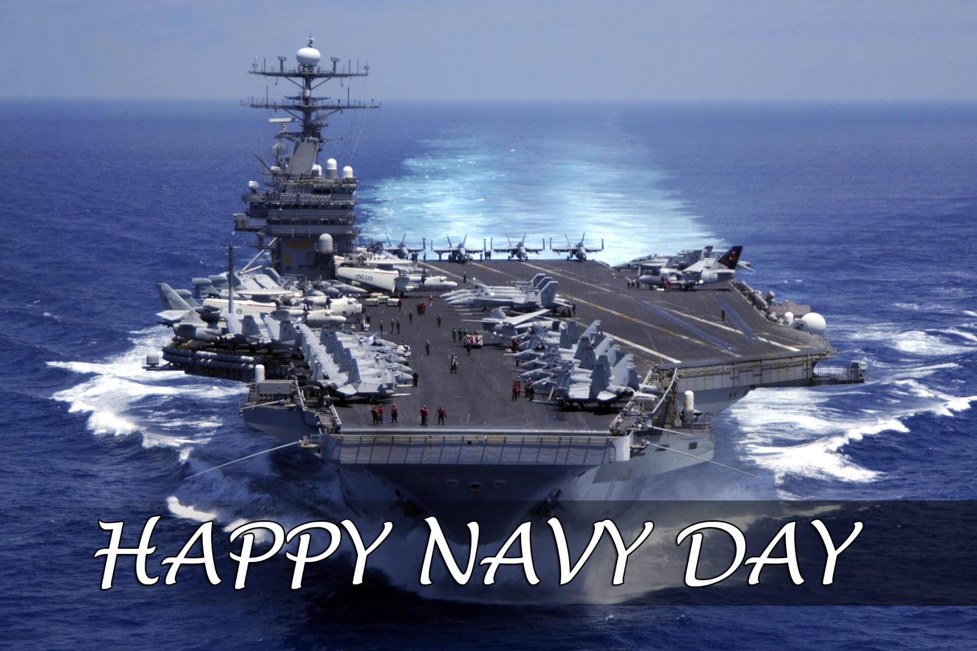 happy navy day war ships wishes greetings hd desktop wallpaper