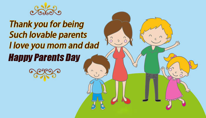 happy parents day family picture