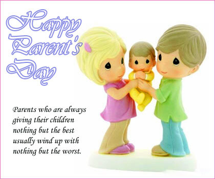happy parents day greeting card whats app