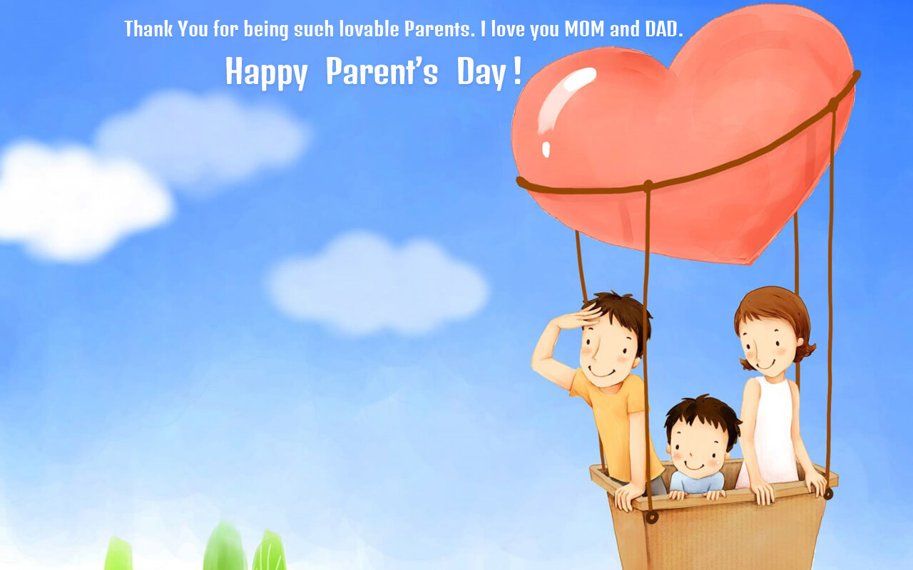 happy parents day heart family images whats app